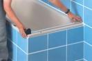 ausmessen der Badewanne
